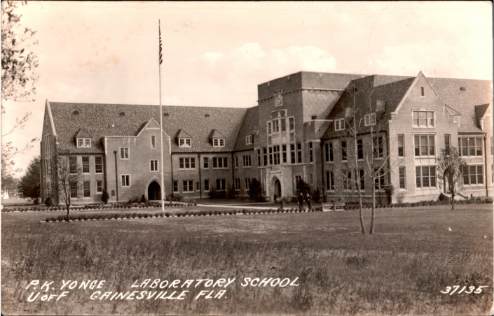 P.K. Laboratory School Postcard Building
