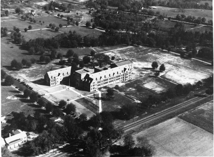 1940s - Aerial View of Norman Hall