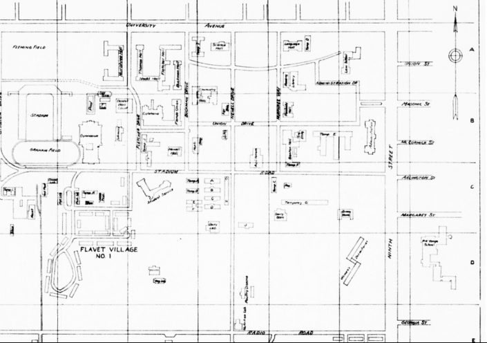1950 Campus Map Blueprints
