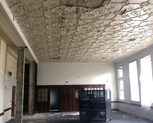 Damaged Historic Classroom ceiling