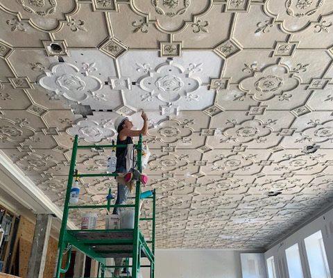 Historic Classroom ceiling restoration