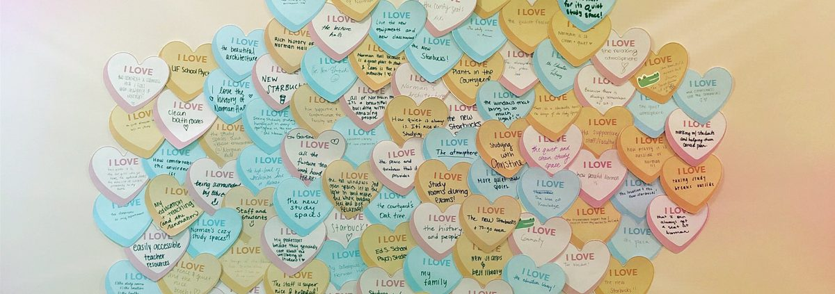 Valentine messages to Norman Hall