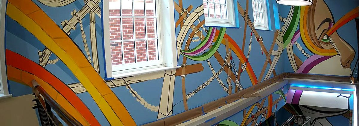 Art In State Buildings Norman Hall Mural Installation feature image