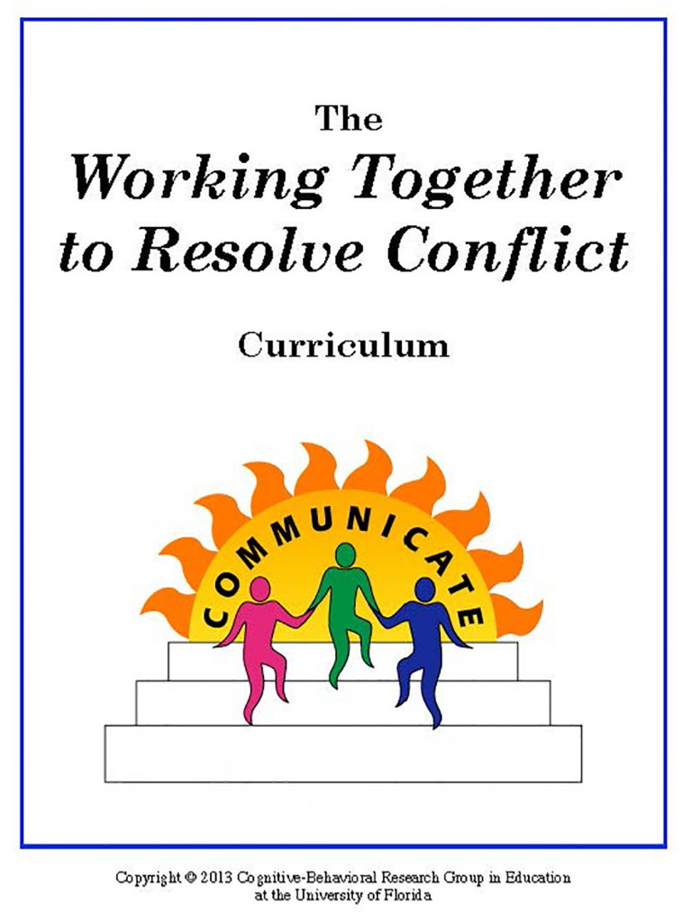 Working Together to Resolve Conflict - Curriculum