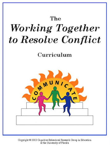 Working Together to Resolve Conflict Curriculum cover