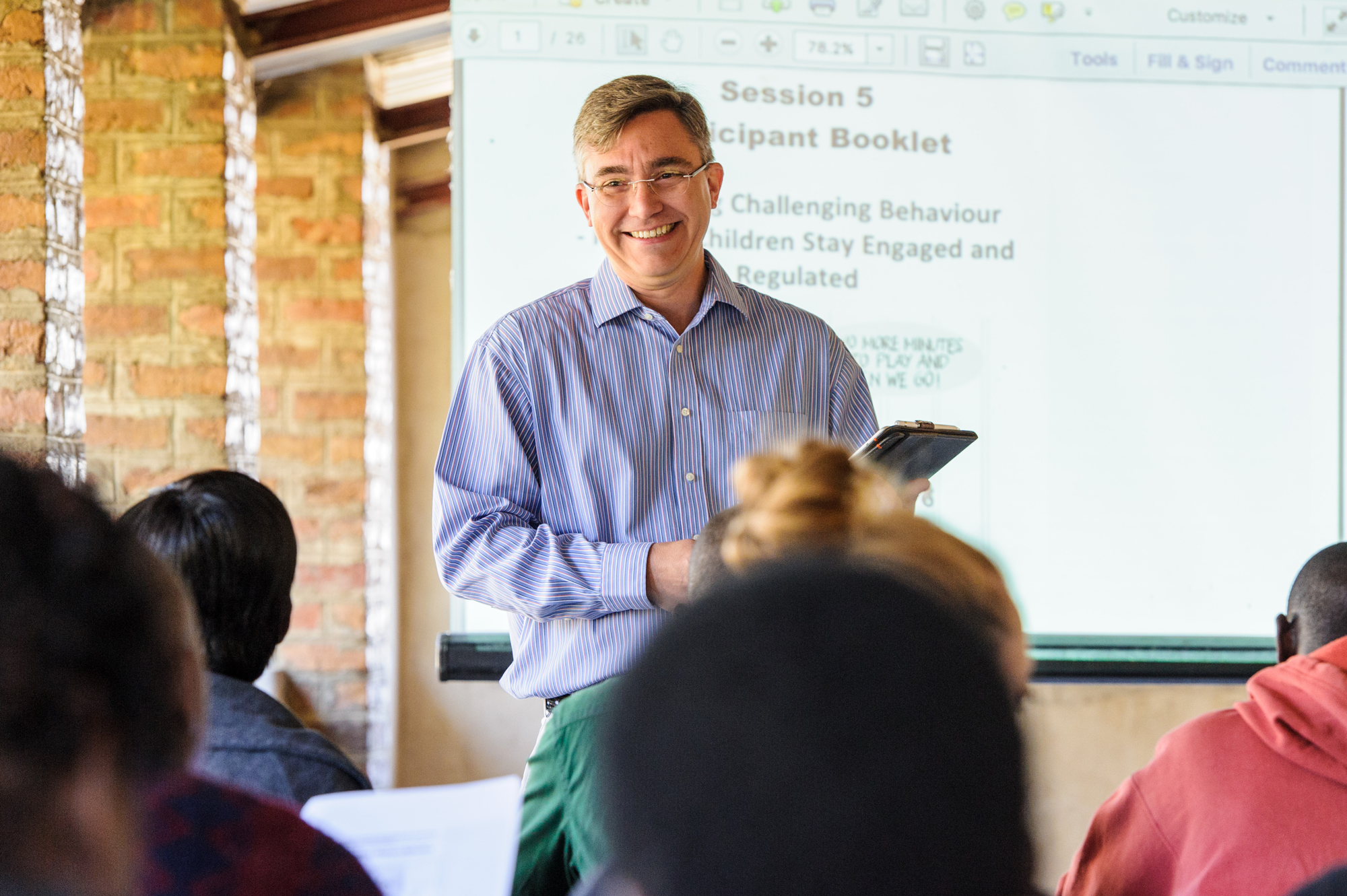 Brian Reichow at a training in Kalomo, Zambia.