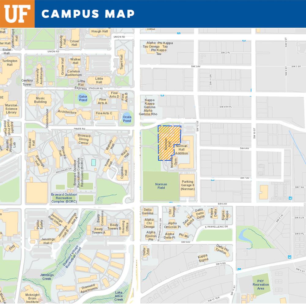 UF Campus Map