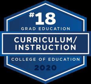 #18 Graduate Education - Curriculum/Instruction - College of Education 2020
