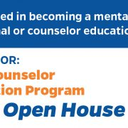 Counselor Education Fall Open House Flyer 2018