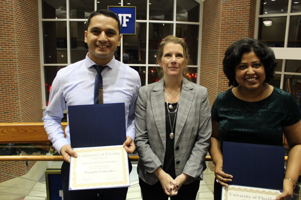 Doctoral students receiving recognition