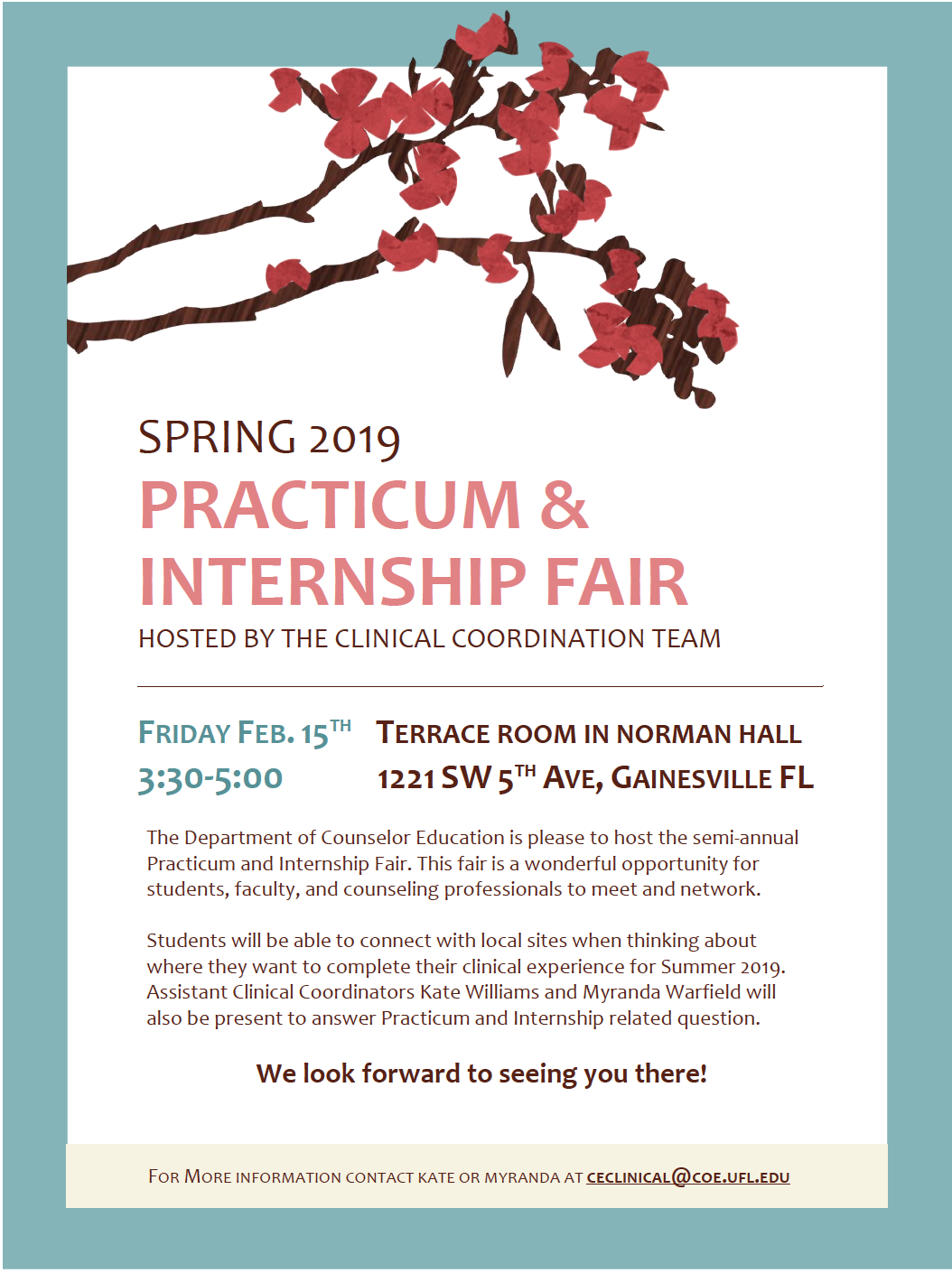 Practicum and Internship Fair Flyer