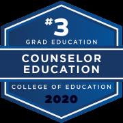 U.S. News & World Report 2020 Graduate Education Ranking - Counselor Edcuation