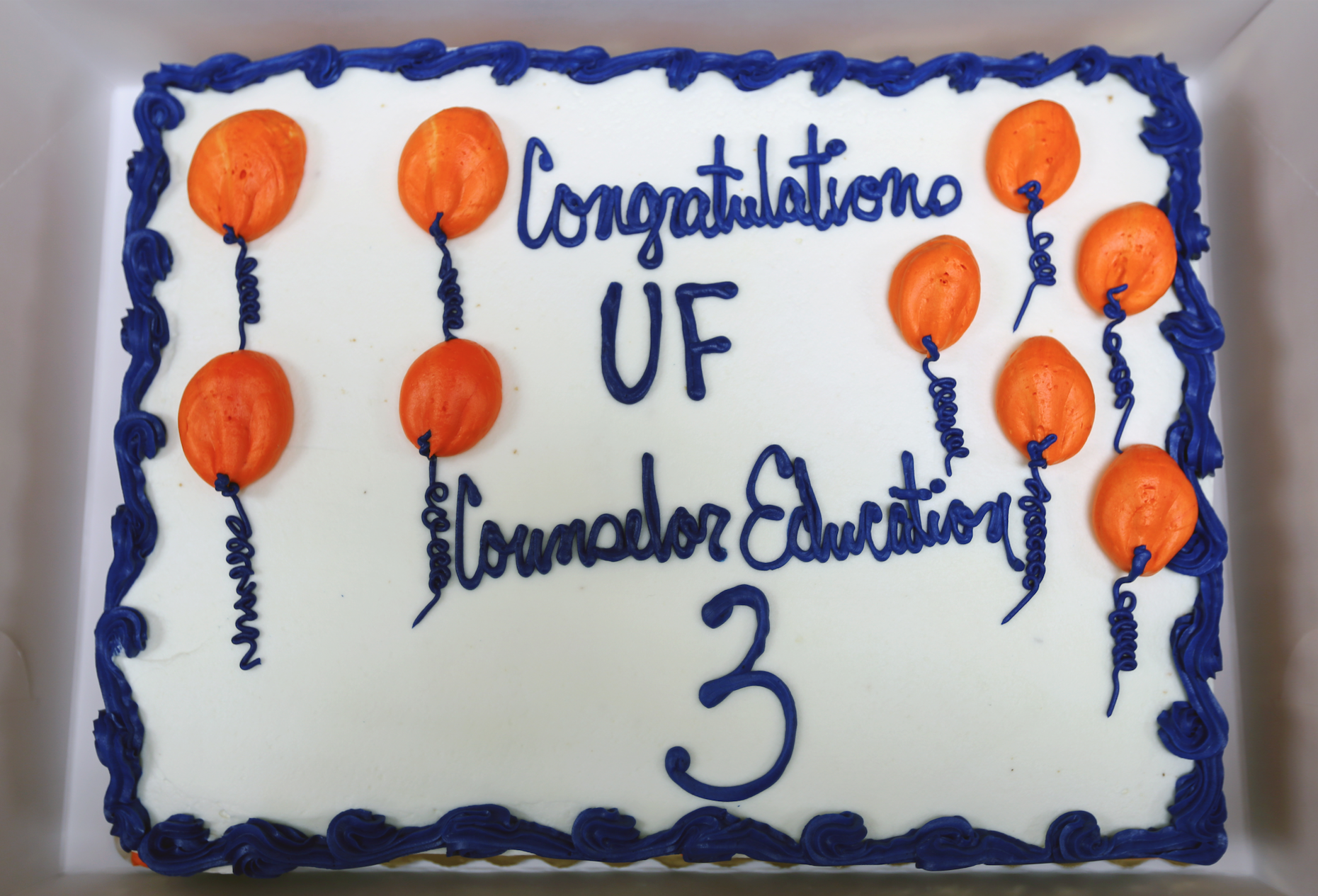 Congratulations UF Counselor Education Cake