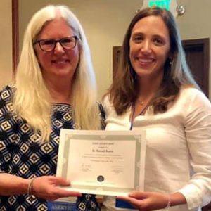 Dr. Hannah Bayne at award ceremony