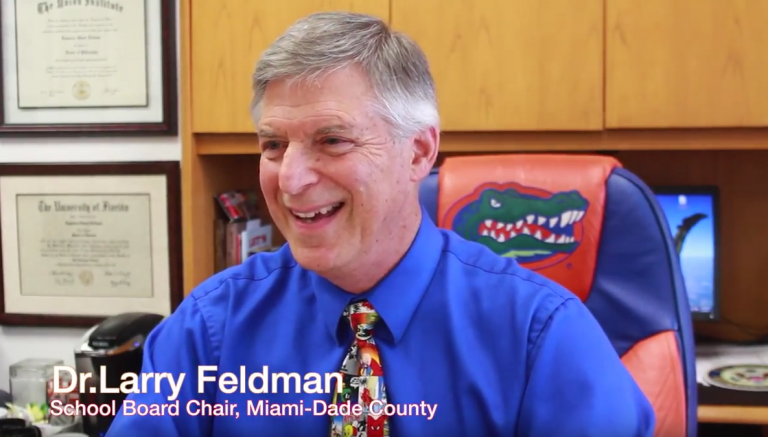 Larry Feldman in his office at Miami-Dade County Public Schools