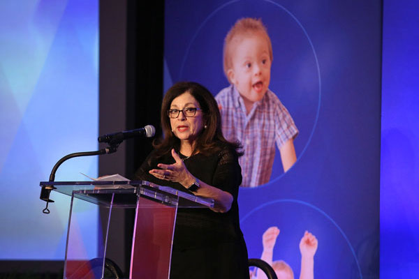 Anita Zucker speaks at the Early Childhood Summit.
