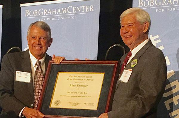 Allen Lastinger receives reward