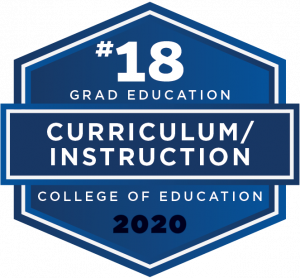U.S. News & World Report 2020 Best Graduate School ranking - Curriculum and Instruction