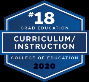 U.S. News & World Report 2020 Best Graduate School ranking - Curriculum and Instruction