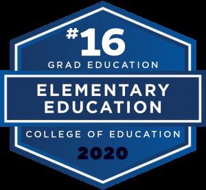 U.S. News & World Report 2020 Best Graduate School Ranking - Elementary Education