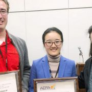 Albert Ritzhaupt and team with AERA award