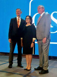 CASE Awards Dean Good, President Fuchs, Anita Zucker