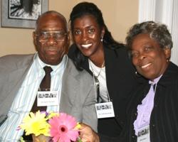 Thomasenia Adams (center) with Simon and Verna Johnson