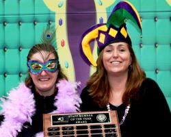 Pictured from left, Staff Members of Year Sandy Durham and Jodi Mount