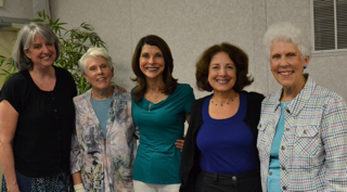 (From left) Holly Lane, Susan Vanderlinde, Pam Tebow, Linda Lombardino and Jane Andrews