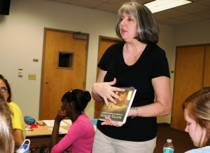 Holly Lane, shown teaching a literacy education class, led the accreditation effort with Linda Lombardino. Both are UF special educaiton faculty members.