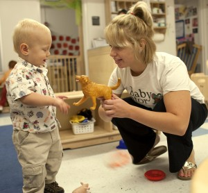 Toddlers get plenty of engaging, early learning experiences at UF's Baby Gator Child Development and Research Center.