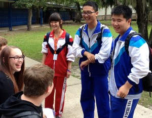 Blue Wave and NJEIS students forge new friendships on the P.K. Yonge campus.