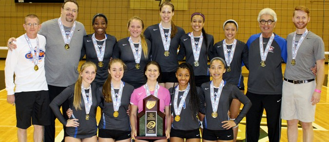 PK Yonge's state champion volleyball team.