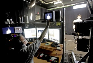 "COE online instructors work with the college's instructional design creative teams to produce high-quality videos, both for on-screen lessons and ""virtual field trips"" (Photo courtesty of Matt Stamey/Gainesville Sun)"