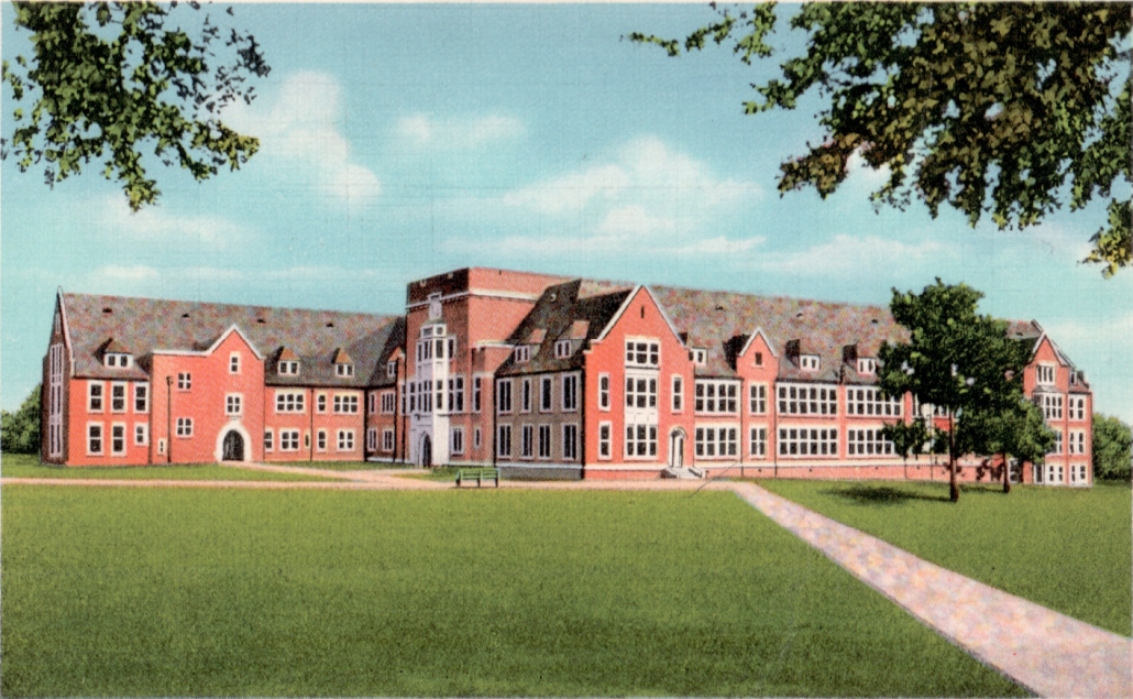 Postcard image of Norman Hall