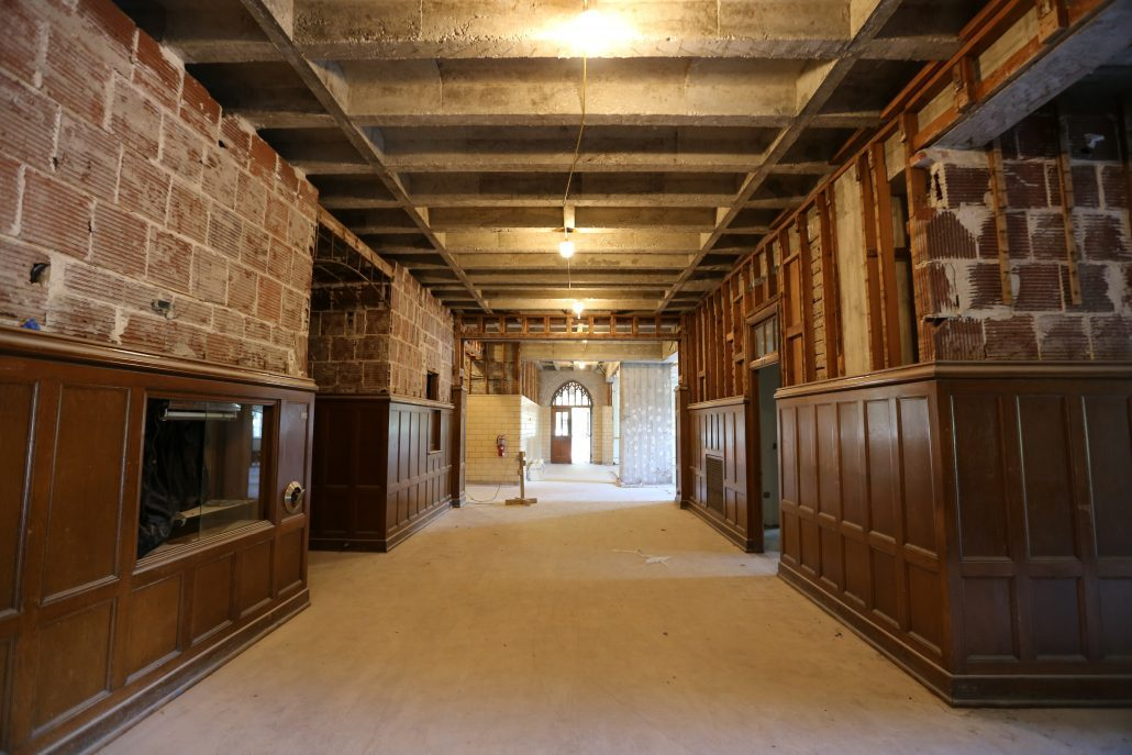 Norman Hall under construction