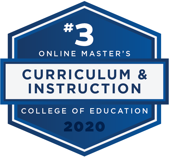 #3 2020 Rankings - Online Masters - Curriculum and Instruction