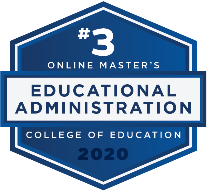 #3 2020 Rankings - Online Masters - Education Administration