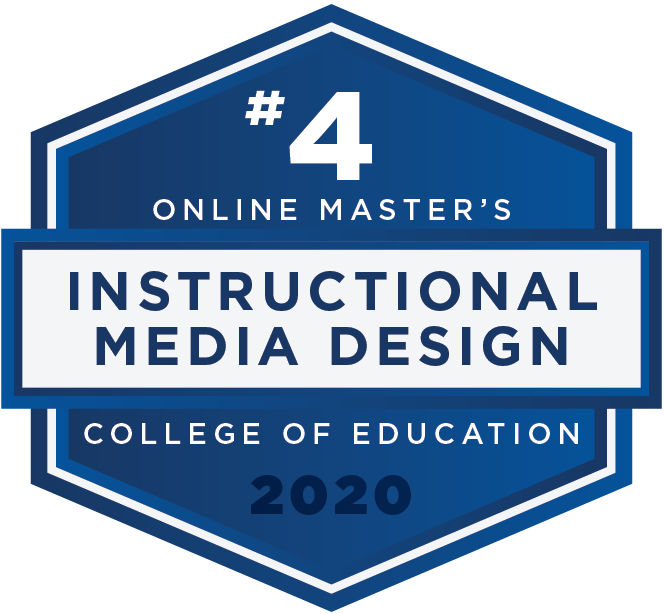 #4 2020 Rankings - Online Masters - Instructional Media Design