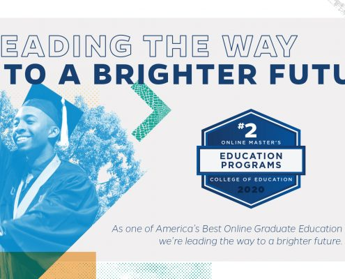 Leading the way to a brighter future - #2 educational online Master's programs