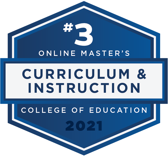 #3 2021 Rankings - Online Masters - Curriculum and Instruction