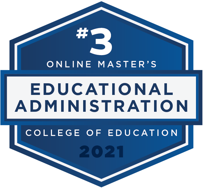 #3 2021 Rankings - Online Masters - Educational Administration