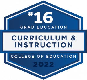 #16 - Grad Education - Curriculum and Instruction - College of Education - 2022