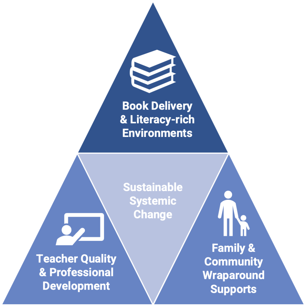 Literacy focused supports diagram