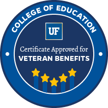 College of Education - Certificate Approved for Veteran Benefits
