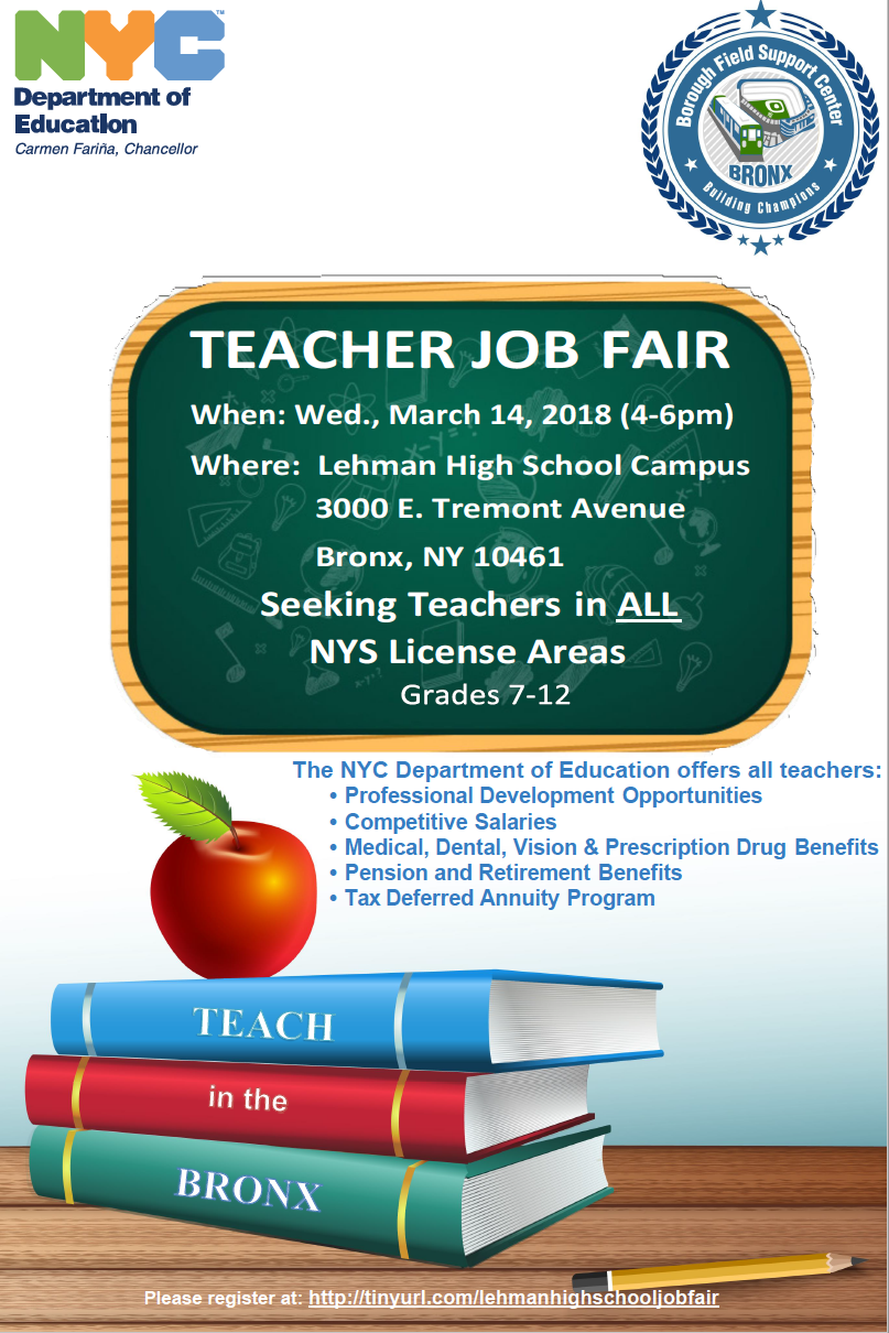 Teacher Job Fair For Middle And High Schools In The Bronx Student