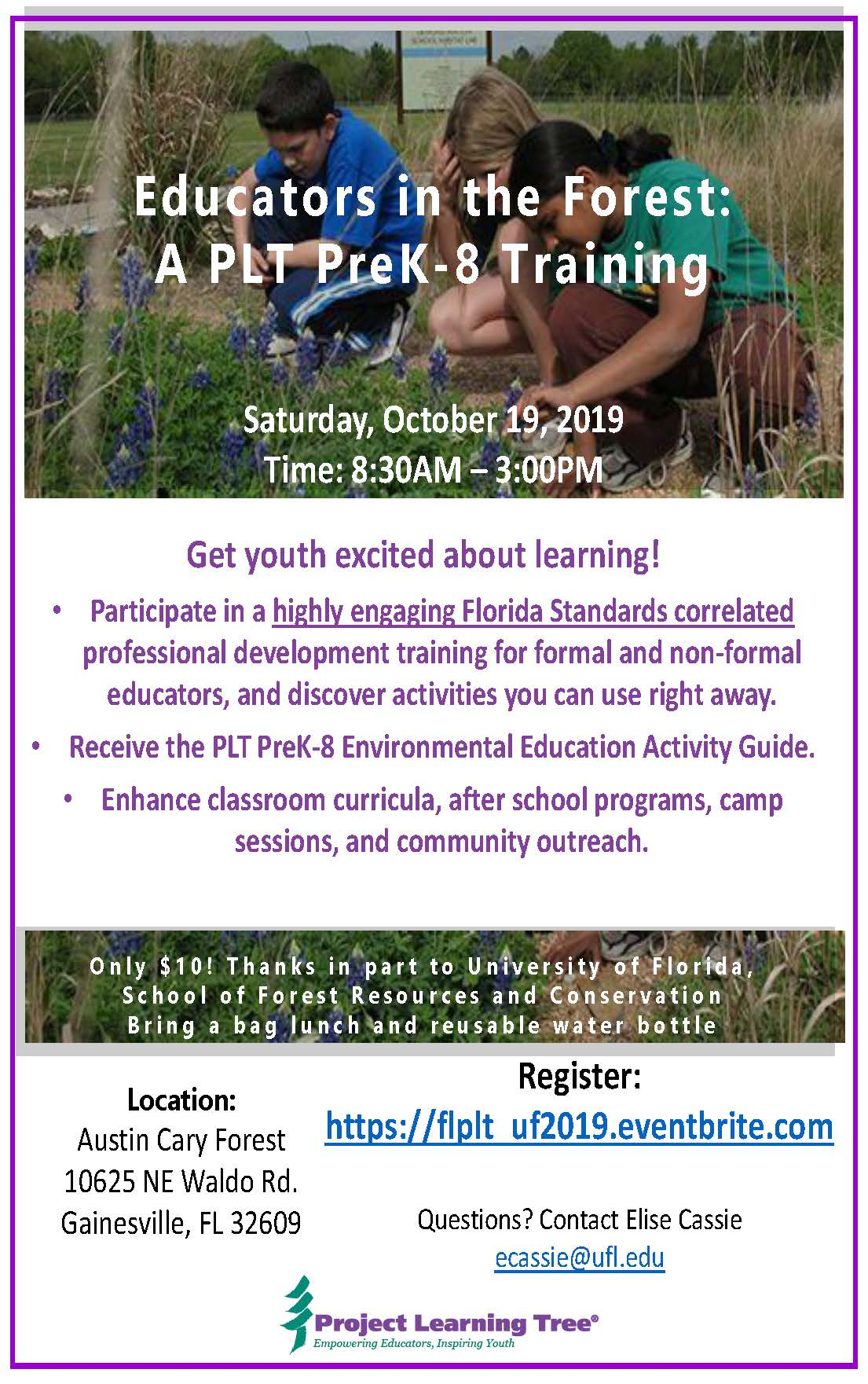Educators in the Forest: A PLT PreK-8 Training – Student