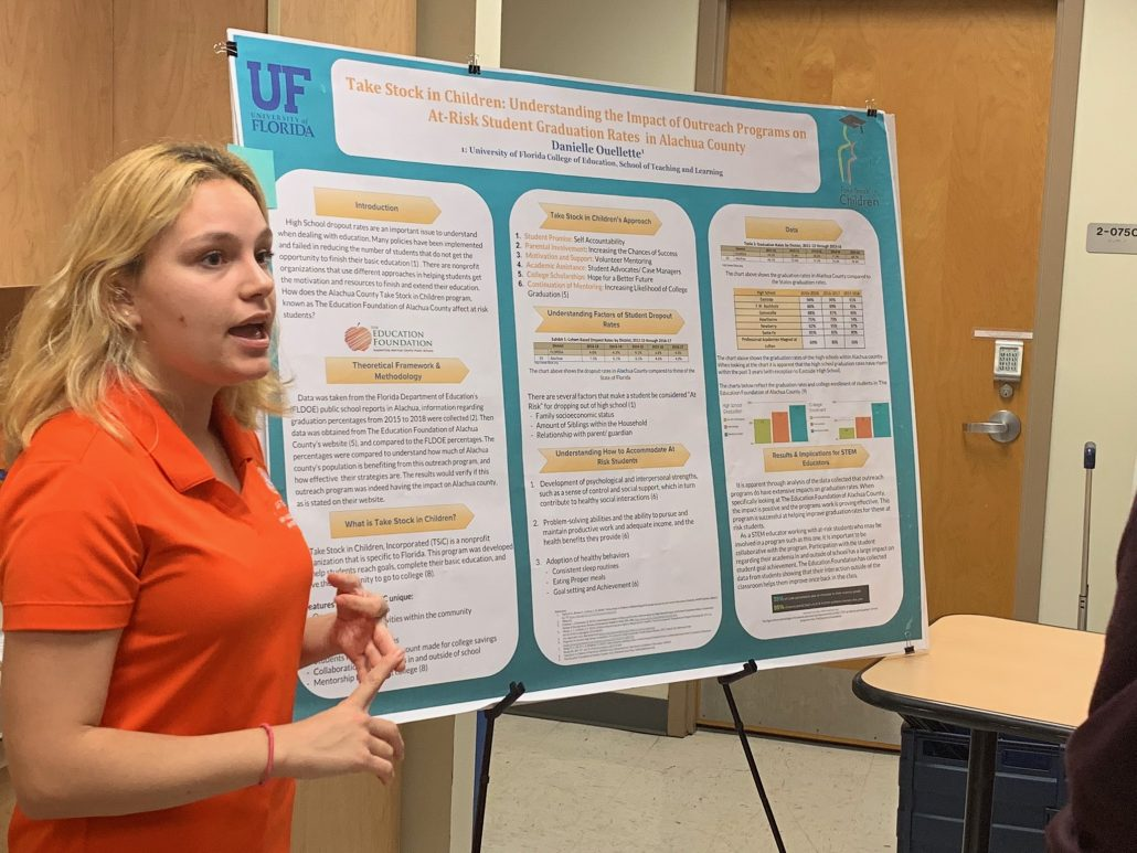 UFTeach student presenting research
