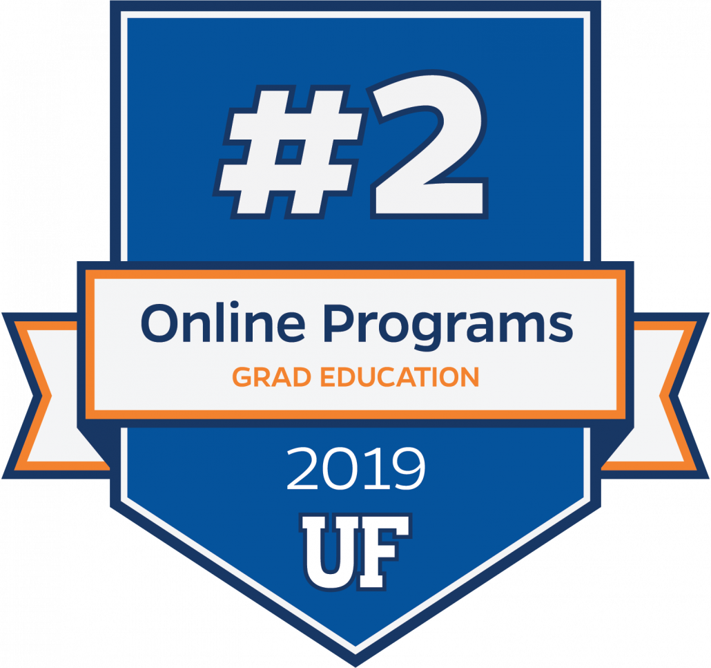 #2 in Online Programs for 2019