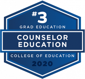 Counselor Education graduate education ranked #3 in the nation